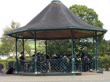 Band & Bugles Durham Army Cadet Force In Simmons Park Bandstand
