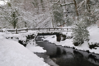 East Okement River in Simmons Park January 2011