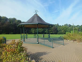 The elegant band stand in Simmons Park