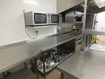 The Charter Hall kitchen facilities