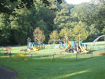 The adventure play area in Simmons Park